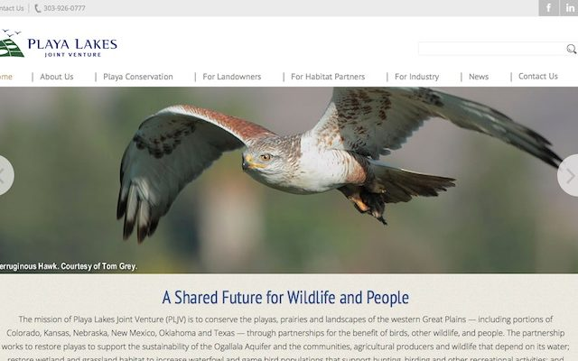 Playa Lakes Joint Venture Website Design