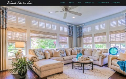 Website Design and Web Application Programming for Michelle Belmont Interiors.