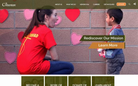 """Website Design for nonprofit Crittenton.  <a href=""""http://crittentonsocal.org"""" target=""""_blank"""">Visit Site Here</a>"""