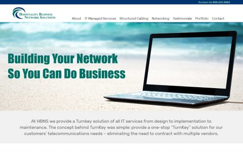 Website Design for Hospitality Business Network Solutions