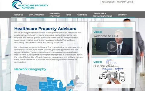 """Website Design and Web Application Programming for Healthcare Property Advisors.  <a href=""""http://www.ii-hpa.com"""" target=""""_blank"""">View Web Design Here</a>"""