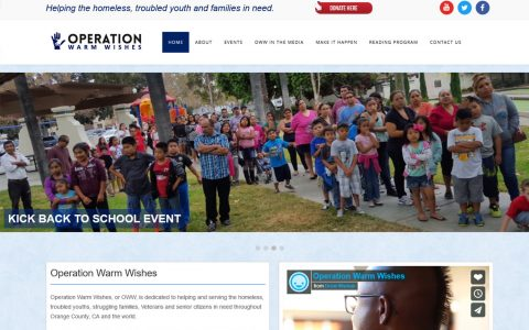 """WordPress Website for Non Profit Operation Warm Wishes <a href=""""http://operationwarmwishes.com"""" target=""""_blank"""">View Website Design Here</a>"""