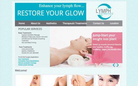 Website Design for Lymph Esthetics.