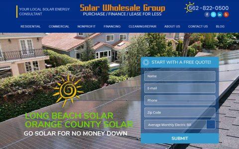 "Website Design for Solar Wholesale Group.  <a href=""https://www.solarwholesalegroup.com/"" target=""_blank"">View Web Design Here</a>"